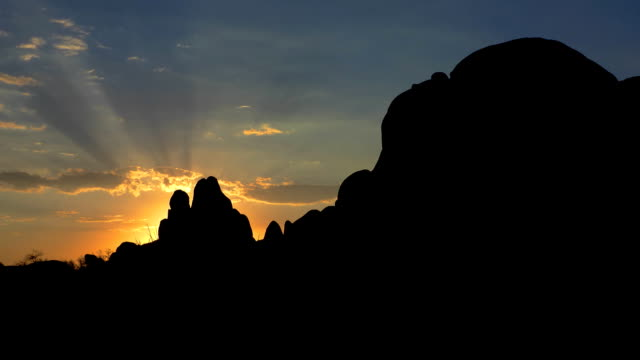 Morning time lapse at Skull Rock Joshua Tree National Park