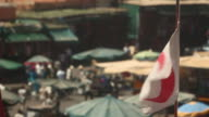Moroccan flag waving