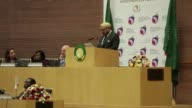 Morocco's King Mohammed VI arrives at the African Union headquarters for the first time in 33 years after being readmitted by the bloc