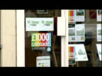 Mortgage Offers in Bank Window