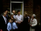 Mortgage repossessions ITN LIB TMS Then PM Margaret Thatcher MP presenting scroll to council house buyer with then GLC Leader Sir Horace Cutler...