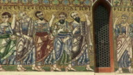 CU PAN Mosaic on façade of Church St Frediano / Lucca, Tuscany, Italy