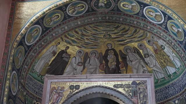 Mosaics in the main apse of the basilica, Euphrasius basilica, Porec