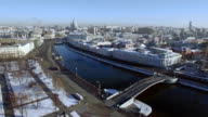 Moscow central district aerial