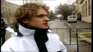 CONFLICT/ CRIME Moscow theatre siege aftermath EXT 2 SHOT Oleg Zegonov interview SOT I have problems with coordination / I couldn't groom myself I...