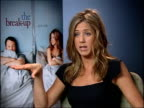 Most Requested Celebrity Dieters TX London Jennifer Aniston being interviewed