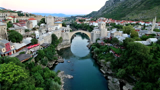 Mostar Bridge sunset