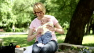 HD 1080 Mother & Baby in the park