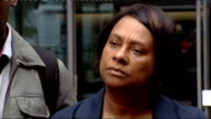 Mother of Stephen Lawrence meets Home Secretary to discuss smear claims Lawrence speaks to press ****AUDIO London Whitehall EXT Doreen Lawrence...