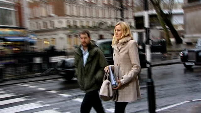 Mother who ran away with her son to prevent radiotherapy treatment appears in court ENGLAND London Royal Courts of Justice EXT Sally Roberts arriving...