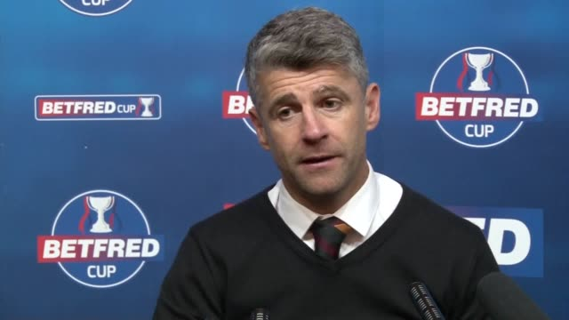 Motherwell manager Stephen Robinson says he is 'chuffed to bits' after 02 win over Rangers in the Betfred Cup semifinal