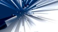 Motion blauem Hintergrund, 3d-block, HD