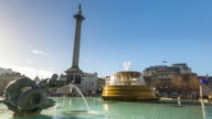 Motion controlled time lapse footage of Trafalgar Square in London.