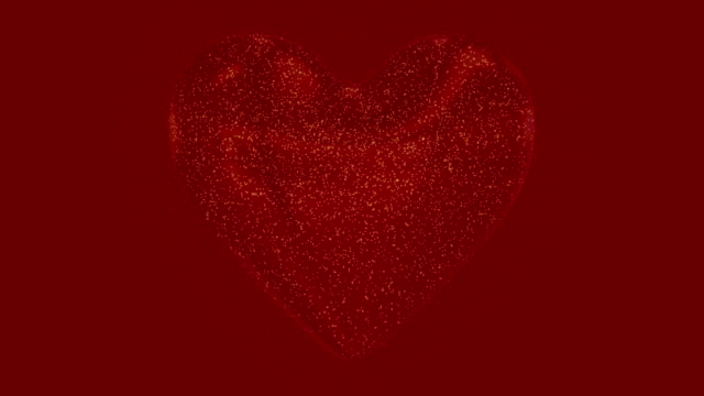 Motion graphic with 3D heart for valentine's day
