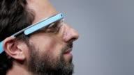 Motion still photo montage of Google cofounder Sergey Brin Sergey Brin wearing Google Glass Motion Still Photo Montage of Sergey Brin on September 09...