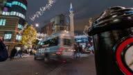 LONDON: Motion Time Lapse in Seven Dials Square with Christmas decorations