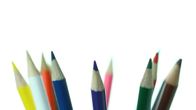 motion video of pencils.