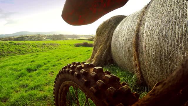 Motocross motorbike in a field