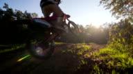 Motocross rider performing a stunt