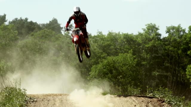 SLO MO Motocross Riders On Track