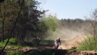 Motocross Riders On Track