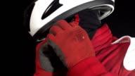Motor racing/Rennfahrer befestigen Helmhalterung
