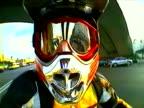 motorbike in the street, Motocross rider, Pov shots