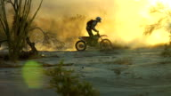 motorcross backlit dust
