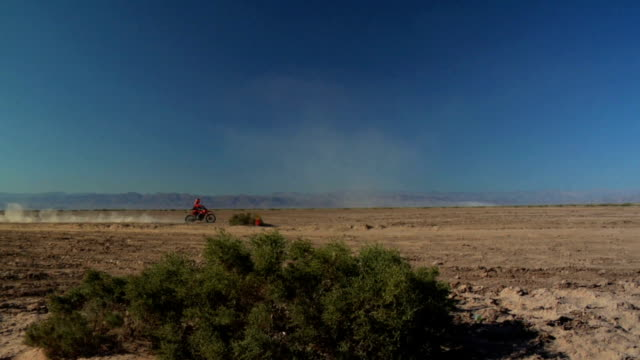 motorcross rider in the desert