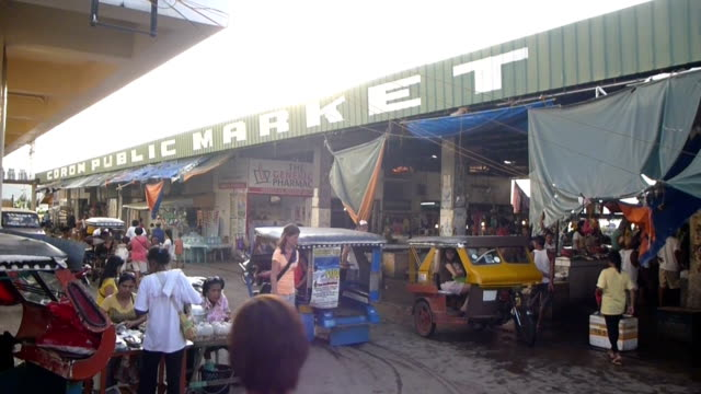 Motorized tricycle in Philippines local market