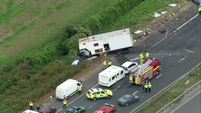 3 people still in critical condition after crash that killed 4 1692017 Gloucestershire Accident scene