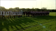 Taunton rugby club tribute ENGLAND Somerset Taunton Taunton rugby club EXT Rugby teams standing in silence before game to remember the victims of the...