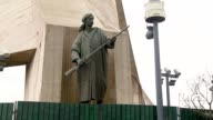 A Moudjahid fighter adorns the Monument of the Martyrs of the Algerian War. Available in HD.