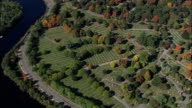 Mount Auburn Cemetery  - Aerial View - Massachusetts,  Middlesex County,  United States