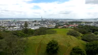 Mount Eden and downtown Auckland.