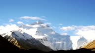 Mount Everest HD timelapse video. Tibet. China
