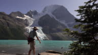 Mount Robson Provincial Park hiking visitor Berg Lake Glacier British Columbia Canada
