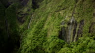 Mount Wialeale Crater, Kauai, Hawaii, the wettest place on earth, Aerial Shot