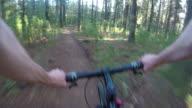 Mountain Bike POV über Lenker