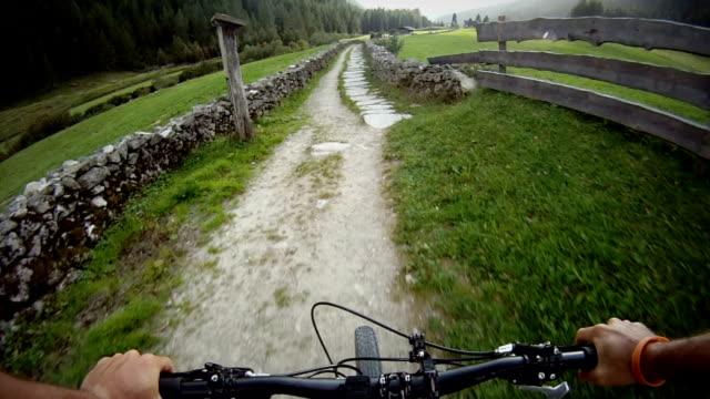 Mountain Bike Video: a Single Track on the Alps