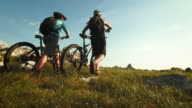 HD: Mountain Bikers Arriving At The Destination