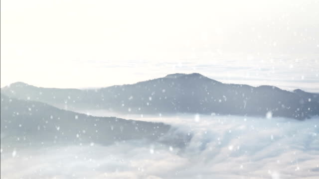 HD: Mountain Landscape above the Clouds,Godrays