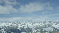 Mountain panorama of the Alps in Tyrol, Austria.