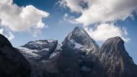 Mountain peak european alps Italy , Time Lapse