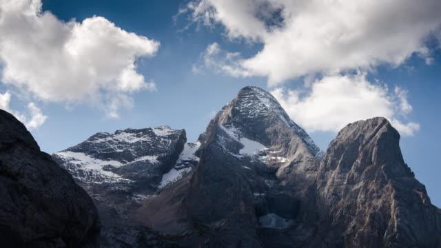 Berge Gipfel Europäische Alpen Italien, Zeitraffer