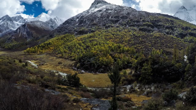 Mountain peak, Yading national level reserve, Daocheng, Sichuan Province, China.
