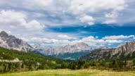 Mountain scenery time lapse