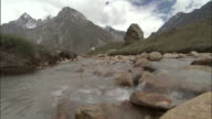 Mountain stream, Tapovan, India Available in HD.