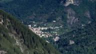 Mountain Valley Leading To Annot  - Aerial View - Provence-Alpes-Côte d'Azur, Alpes-de-Haute-Provence, Arrondissement de Castellane, France