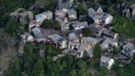 Mountain Village Of Peyresq  - Aerial View - Provence-Alpes-Côte d'Azur, Alpes-de-Haute-Provence, Arrondissement de Castellane, France